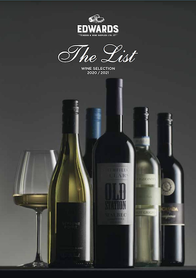 Edwards Wine List front cover